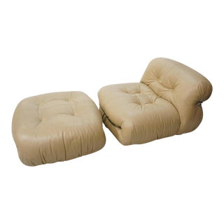Afra Tobia Scarpa for Cassina Chair & Ottoman