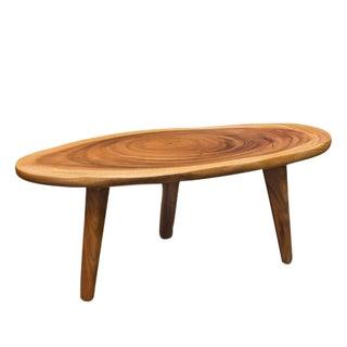 Mid-Century Free-Form Mahogany Coffee Table