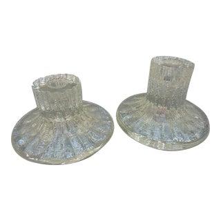 Timo Sarpaneva Glass Candle Holders - A Pair
