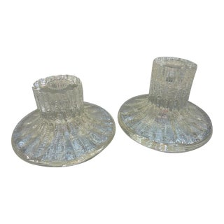 Timo Sarpaneva Glass Candle Holders - A Pair
