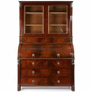 French Empire Mahogany Secretary Desk by Jean-Joseph Chapuis Circa 1805