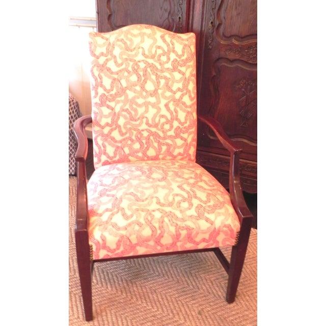 Rose Cummings Ribbon Chintz Upholstered Armchair - Image 6 of 8
