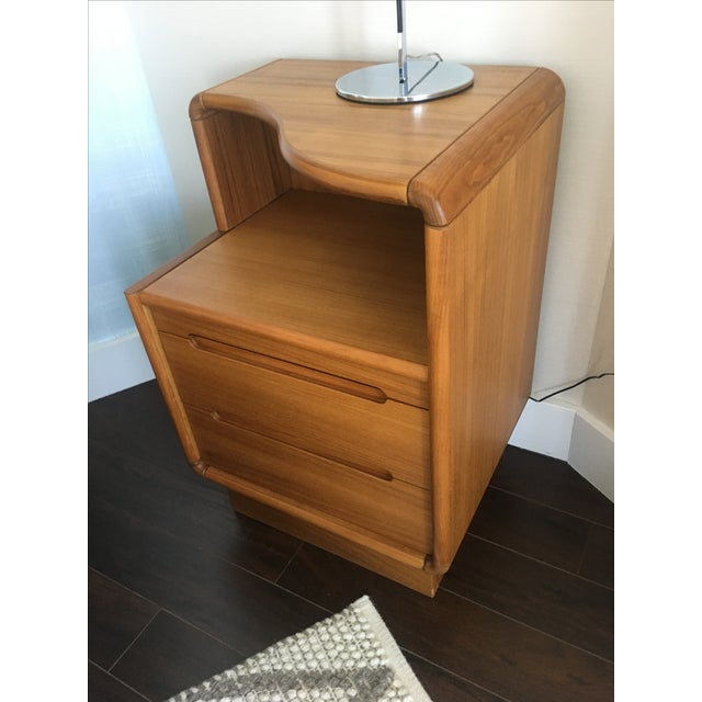 Contemporary Teak Nightstands - A Pair - Image 5 of 8
