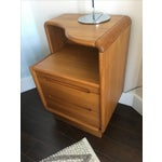 Image of Contemporary Teak Nightstands - A Pair
