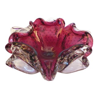 Venetian Murano Glass Floriform Ashtray