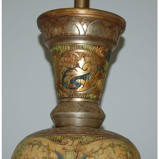 Image of Marbro Carved Egyptian Lamps