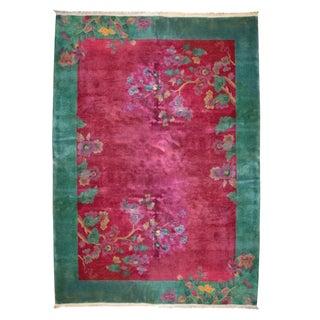 "Chinese Art Deco Carpet - 8'9"" x 11'3"""