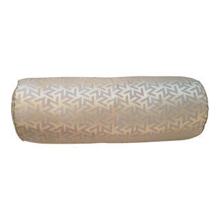 Gold Geometric Bolster Pillows - Pair