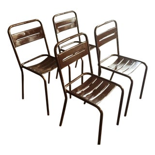 French Metal Stacking Garden Chairs - 4
