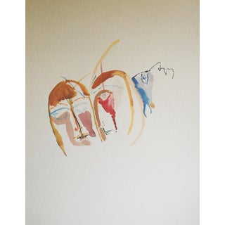 1970s Expressionist Painting by Richard Mann
