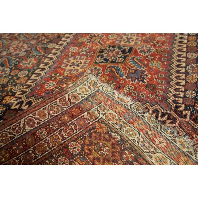 """Antique Persian Qashqai Rug - 3'11"""" x 6'5"""" - Image 10 of 10"""