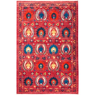 """Suzani Hand Knotted Area Rug - 5'3"""" X 7'10"""""""
