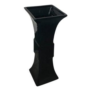 Global Views Garniture Black Ceramic Vase