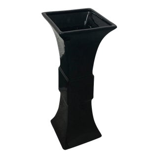 Global Views Garniture Black Ceramic Vase