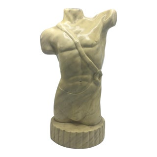 Ceramic Male Torso Sculpture