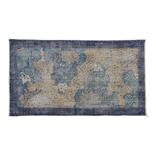 "Zeki Muren Distressed Vintage Turkish Sivas Rug - 3'10"" X 6'11"""