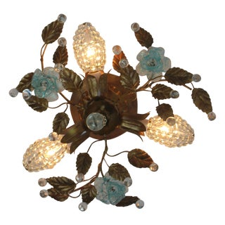 Vintage Venetian Glass & Gold-Leaf Light