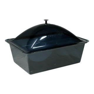 Smoked Acrylic Ice Bucket and Cold Food Server