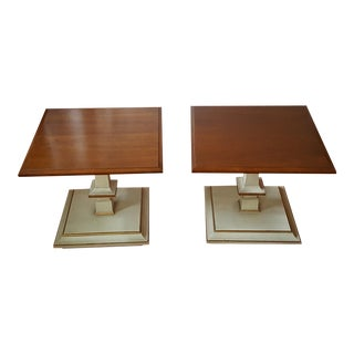 Kindel French Provincial Side/Bunching Tables-Pair