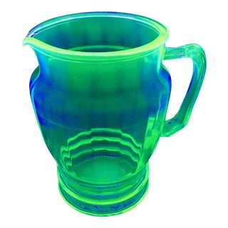 Anchor Hocking Green Uranium Glass Pitcher