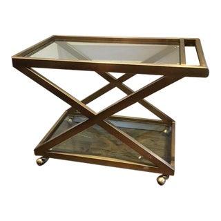 Restoration Hardware Mid-Century Style Bar Cart