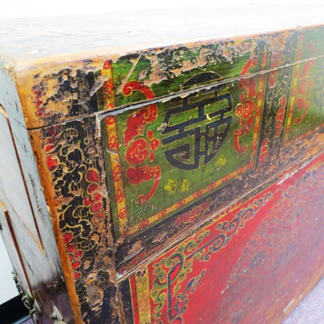 Antique Qing Dynasty Chinoiserie Lacquer Cabinets - Image 8 of 11