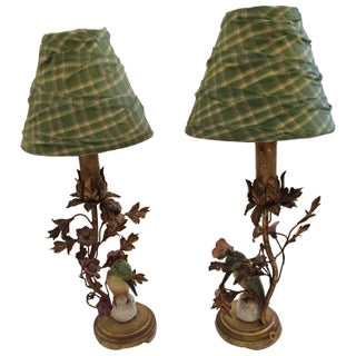 Darling Tole & Porcelain Lamps - A Pair