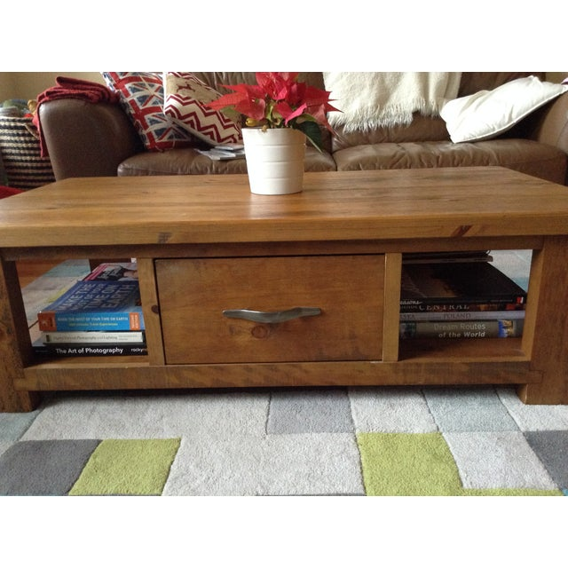 Solid Walnut Wood Coffee Table - Image 10 of 11