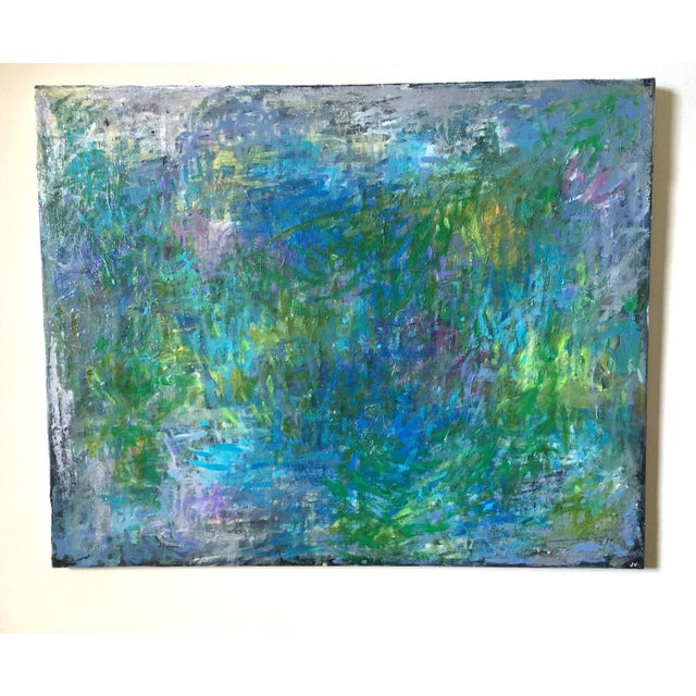 "Jenny Vorwaller ""Fields"" Abstract Painting - Image 2 of 4"