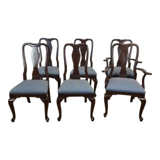 Ethan Allen Cherry Georgian Court Dining Room Chairs - Set of 6
