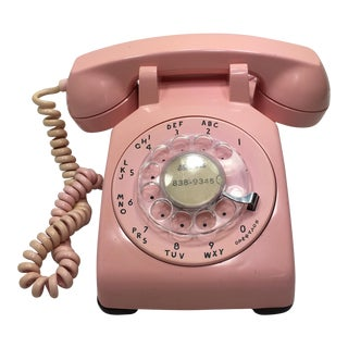 Pink 1961 Date Matched Telephone
