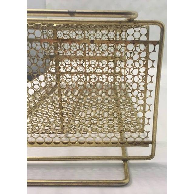 Atomic Era Magazine Rotary Phone Brass Rack - Image 4 of 7