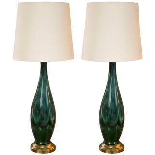 Mid-Century Ceramic Lamps - A Pair