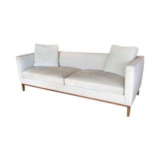 Room & Board Grey Velvet Sofa