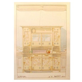 Vintage French Decorator Sheet Interior/Buffet