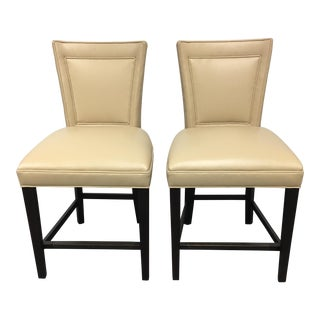 Hickory Chair Flare Back Counter Stools - A Pair