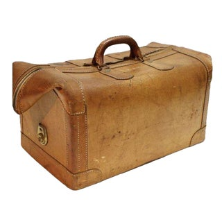 Vintage Leather Luggage Bag