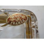 Image of Baccarat French Cut Glass & Gilt Ash Tray