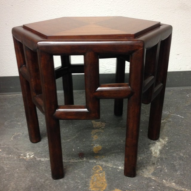 New Bamboo Hexagon Side Table - Image 9 of 10