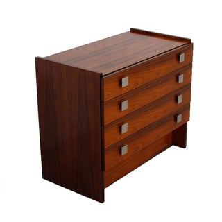Petite Rosewood Chest with Brushed Steel Pulls