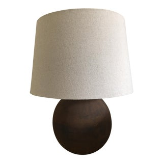 Round Rust Table Lamp