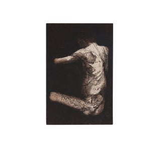 'Seated Figure (12)' Etching