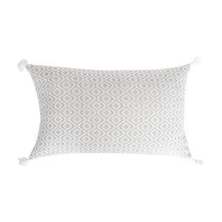 Mexican Grey Handwoven Pillow
