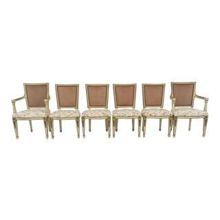 Cream & Gold Jansen Style Dining Chairs - Set of 6