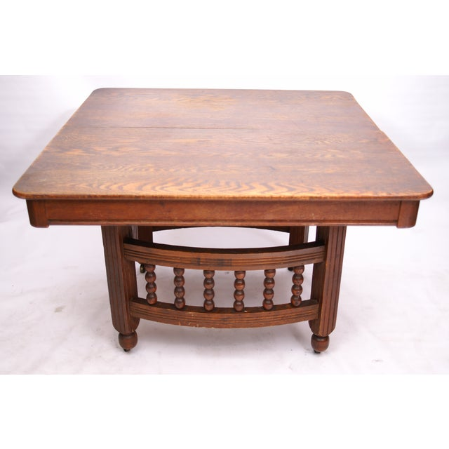 Antique Stick & Ball Dining Table - Image 3 of 7