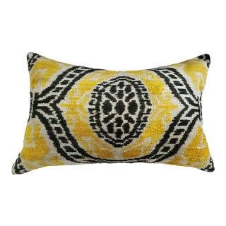 Linda Silk Velvet Ikat Pillow