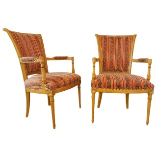Pair of Painted Louis XVI Style Chairs