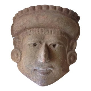 Sculptural Mayan Tribal Stone Mask