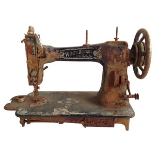 Antique White Rotary Sewing Machine