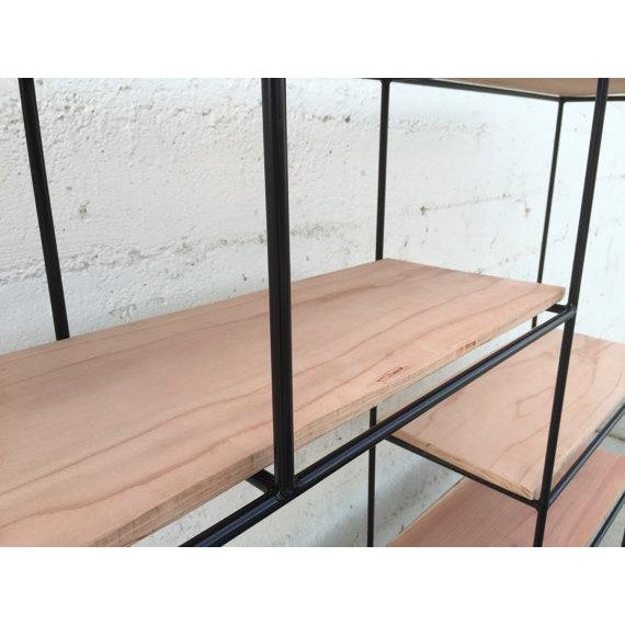 Muriel Coleman Style Steel & Wood Wall Unit - Image 4 of 6